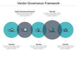 Vendor Governance Framework Ppt Powerpoint Presentation File Clipart Cpb
