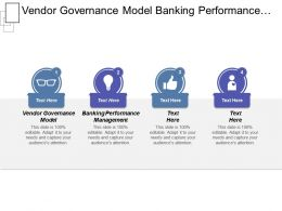 Vendor Governance Model Banking Performance Management Financial Product Sales Cpb