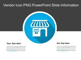 Vendor Icon Png Powerpoint Slide Information