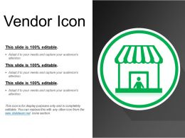 Vendor Icon Powerpoint Slide Introduction