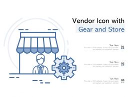 Vendor Icon With Gear And Store