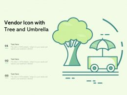 Vendor Icon With Tree And Umbrella