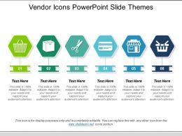 Vendor Icons Powerpoint Slide Themes