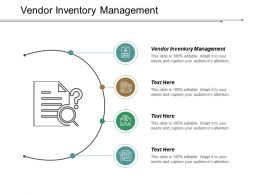 Vendor Inventory Management Ppt Powerpoint Presentation Inspiration Icons Cpb