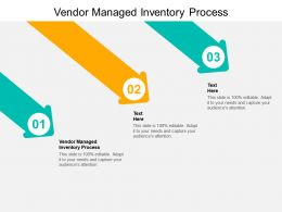 Vendor Managed Inventory Process Ppt Powerpoint Presentation Infographics Summary Cpb