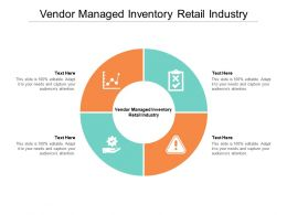 Vendor Managed Inventory Retail Industry Ppt Powerpoint Presentation Styles Shapes Cpb