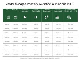 Vendor Managed Inventory Worksheet Of Push And Pull Control