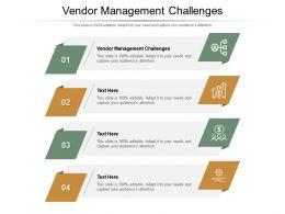 Vendor Management Challenges Ppt Powerpoint Presentation Ideas Format Cpb