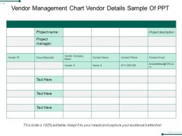 Vendor Management Chart Vendor Details Sample Of Ppt