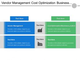 Vendor Management Cost Optimization Business Location Important Organizations