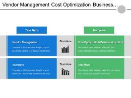 Vendor Management Cost Optimization Business Location Important Organizations