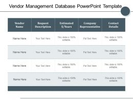 Vendor Management Database Powerpoint Template
