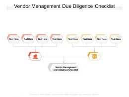 Vendor Management Due Diligence Checklist Ppt Powerpoint Presentation Inspiration Cpb