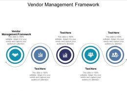 Vendor Management Framework Ppt Powerpoint Presentation Icon Graphics Tutorials Cpb