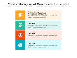 Vendor Management Governance Framework Ppt Powerpoint Presentation Layouts Graphics Download Cpb