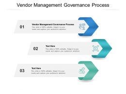 Vendor Management Governance Process Ppt Powerpoint Presentation Pictures Graphic Cpb