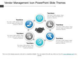Vendor Management Icon Powerpoint Slide Themes