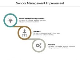 Vendor Management Improvement Ppt Powerpoint Presentation Icon Graphics Cpb