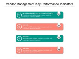 Vendor Management Key Performance Indicators Ppt Powerpoint Presentation Show Graphics Example Cpb