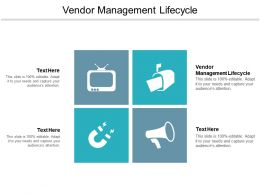 Vendor Management Lifecycle Ppt Powerpoint Presentation Infographic Template Brochure Cpb
