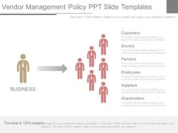 Vendor Management Policy Ppt Slide Templates