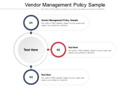 Vendor Management Policy Sample Ppt Powerpoint Presentation Styles Inspiration Cpb