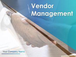 Vendor Management Powerpoint Presentation Slides