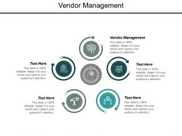Vendor Management Ppt Powerpoint Presentation Outline Smartart Cpb