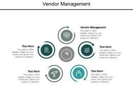 Vendor Management Ppt Powerpoint Presentation Outline Smartart Cpb