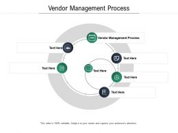 Vendor Management Process Ppt Powerpoint Presentation Infographics Visuals Cpb