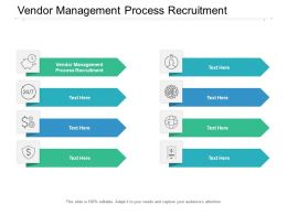 Vendor Management Process Recruitment Ppt Powerpoint Presentation Layouts Topics Cpb