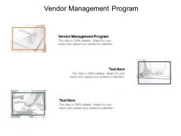 Vendor Management Program Ppt Powerpoint Presentation Infographic Template Example Introduction Cpb