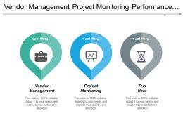 Vendor Management Project Monitoring Performance Improvement Digital Marketing Cpb