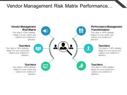 Vendor Management Risk Matrix Performance Management Transformation Marketing Strategies Cpb