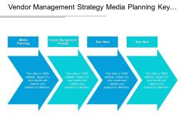 Vendor Management Strategy Media Planning Key Performance Indicator Cpb