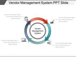 Vendor Management System Ppt Slide