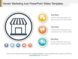 Vendor Marketing Icon Powerpoint Slides Templates