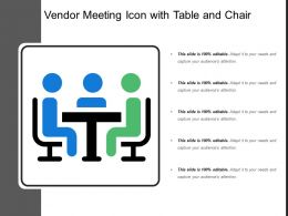 Vendor Meeting Icon With Table And Chair