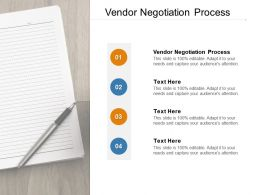 Vendor Negotiation Process Ppt Powerpoint Presentation Icon File Formats Cpb