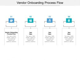 Vendor Onboarding Process Flow Ppt Powerpoint Presentation Slide Cpb