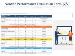 Vendor Performance Evaluation Form Average Company Information Ppt Grid
