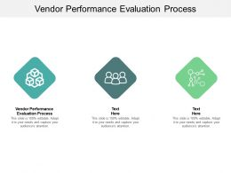Vendor Performance Evaluation Process Ppt Powerpoint Presentation Model Ideas Cpb