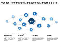 Vendor Performance Management Marketing Sales Promotion Workplace Performance Cpb