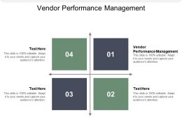Vendor Performance Management Ppt Powerpoint Presentation Images Cpb