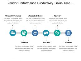 Vendor Performance Productivity Gains Time Utilization Customer Base