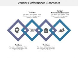 Vendor Performance Scorecard Ppt Powerpoint Presentation Icon Maker Cpb