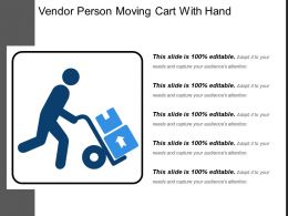 Vendor Person Moving Cart With Hand