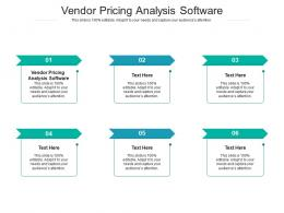 Vendor Pricing Analysis Software Ppt Powerpoint Presentation Infographic Template Background Cpb