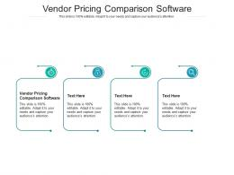 Vendor Pricing Comparison Software Ppt Powerpoint Presentation Slide Cpb