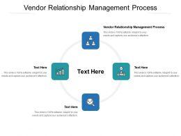 Vendor Relationship Management Process Ppt Powerpoint Portfolio Deck Cpb